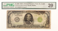 1928 $1000 One Thousand Dollars Federal Reserve Note (PMG 20) at PristineAuction.com