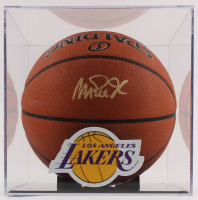 Magic Johnson Signed 2018 All-Star Game Logo Basketball with Display Case (Beckett COA) at PristineAuction.com