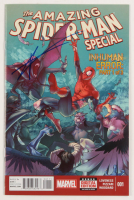 """Tom Holland Signed 2015 """"The Amazing Spider-Man: Inhuman Error Part 1 of 3"""" Issue #001 Marvel Comic Book (JSA COA) at PristineAuction.com"""