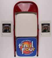 Lot of (4) 1997 NCAA Final 4 Items with Courtside Chair, Seat Cushion, & (2) Programs at PristineAuction.com