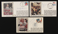 Lot of (3) Hockey FDC Envelopes Signed by (3) with Mike Keenan, Scotty Bowman, & Bobby Hull (JSA COA) at PristineAuction.com