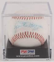 Joe DiMaggio Signed OL Baseball with Display Case (PSA LOA) at PristineAuction.com