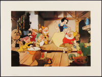 "Walt Disney ""Snow White & the Seven Dwarfs"" 12x16 1994 The Disney Store Exclusive Lithograph at PristineAuction.com"