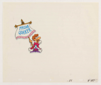 "Quaker Oats ""King Vitaman"" 10.5x12 Animation Production Cel & Sketch at PristineAuction.com"