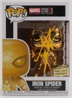 "Tom Holland Signed ""Iron Spider"" #440 Marvel Bobble-Head Funko Pop Vinyl Figure (PSA COA) at PristineAuction.com"