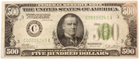 1928 $500 Five Hundred Dollars Federal Reserve Note at PristineAuction.com