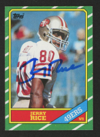 Jerry Rice Signed 1986 Topps #161 RC Football Card (JSA COA) at PristineAuction.com