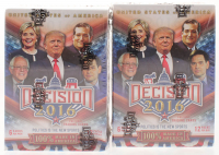 Lot Of (2) 2016 Decision Political Trading Cards Blaster Boxes of (72) Cards at PristineAuction.com