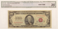 1966 $100 One Hundred Dollars U.S. Legal Tender Note (CGA 35) at PristineAuction.com