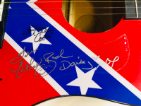"""Dukes of Hazzard"" Signed Acoustic Guitar Signed by (4) with Catherine Bach, Tom Wopat, John Schneider & Ben Jones with Inscriptions (JSA COA) at PristineAuction.com"