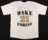 Tim Duncan Signed Wake Forest Demon Deacons Number Retirement T-Shirt (Beckett COA) at PristineAuction.com