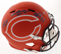 Dick Butkus, Mike Singletary & Brian Urlacher Signed Bears Full-Size AMP Alternate Speed Helmet with (3) Hall of Fame Inscriptions (Beckett COA) at PristineAuction.com