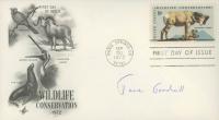 Jane Goodall Signed 1972 Wildlife Conservation FDC Envelope (JSA COA) at PristineAuction.com