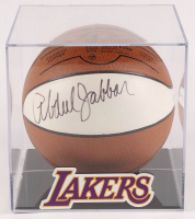 Kareem Abdul-Jabbar Signed Spalding Basketball with Display Case (PSA COA) at PristineAuction.com