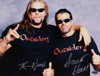 Kevin Nash & Scott Hall Signed WWE 11x14 Photo (Playball Ink Hologram) at PristineAuction.com