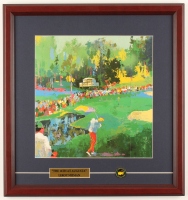 "LeRoy Neiman ""The 16th at Augusta"" 16.75x17.75 Custom Framed Print Display with The Masters Ball Marker at PristineAuction.com"