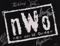 "NWO 11x14 Photo Signed by (5) with Kevin Nash, XPac, Scott Hall, Buff Bagwell & Ron Simmons Inscribed ""2017"" (Playball Ink Hologram) at PristineAuction.com"