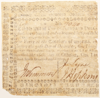 1790 $300 Three Hundred Dollars Virginia Colonial Currency Note at PristineAuction.com