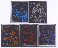 """Lot of (5) Kevin Eastman Signed """"Teenage Mutant Ninja Turtles"""" 8x10 Sketches on Canvas Inscribed """"20"""" (JSA COA) at PristineAuction.com"""