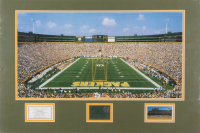 Green Bay Packers 18x27 Custom Matted Authentic Lambeau Field Game-Used Metal Cut Display (Elite Sports Promotions Agency COA) at PristineAuction.com