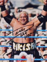 """Rikishi Signed WWE 11x14 Photo Inscribed """"WWE HOF"""" (Playball Ink Hologram) at PristineAuction.com"""