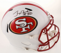 Jerry Rice Signed 49ers Matte White Speed Full Size Helmet (Schwartz COA) at PristineAuction.com