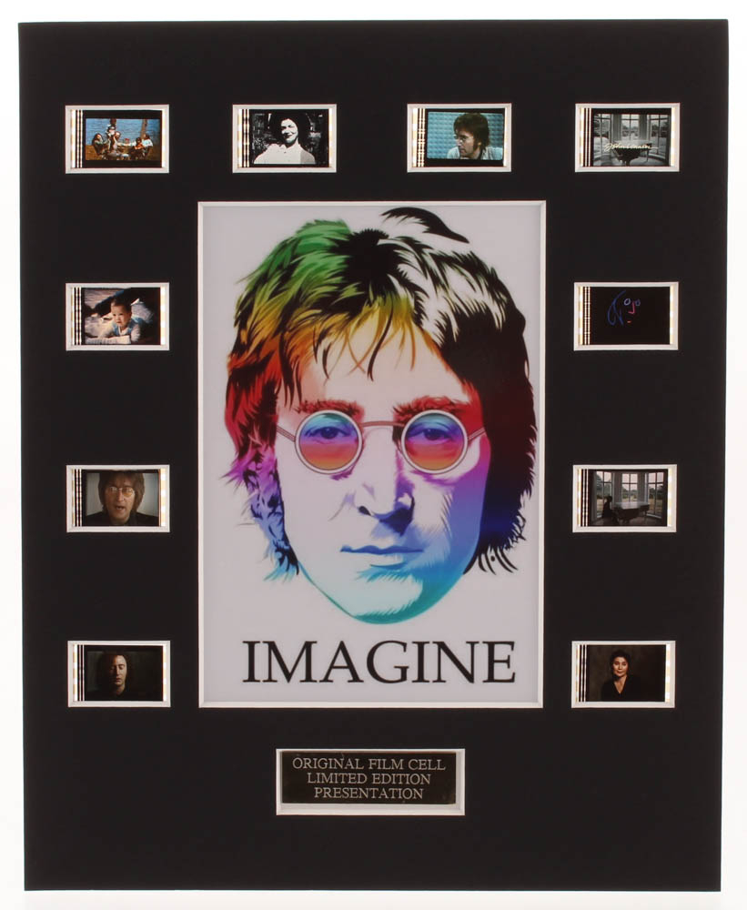 John Lennon Imagine Le 8x10 Custom Matted Original Film Movie Cell Display Pristine Auction