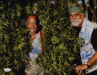 """Cheech Marin & Tommy Chong Signed 11x14 Photo Inscribed """"19"""" (JSA COA) at PristineAuction.com"""