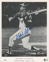 """Hank Aaron Signed Braves """"715th Home Run"""" 8x10 Photo (JSA COA) at PristineAuction.com"""