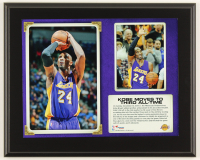 "Kobe Bryant Lakers ""Kobe Moves to Third All-Time"" 10.5x13 Custom Photo Plaque Display at PristineAuction.com"