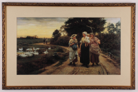 "Frederick Morgan ""The Haymakers"" 20x30 Custom Framed Print Display at PristineAuction.com"