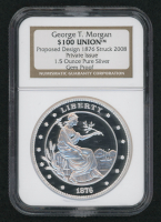 2008 George T. Morgan 1 oz Silver $100 Union Coin (NGC Gem Proof) at PristineAuction.com