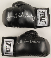 """Lot of (2) Signed Everlast Boxing Gloves with Iran """"Blade"""" Barkley & Tim Witherspoon (Schwartz COA) at PristineAuction.com"""