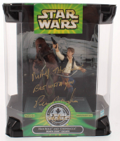 "Peter Mayhew Signed ""Star Wars: Silver Anniversary"" Hand Solo & Chewbacca Figure Inscribed ""May The Force Be With You"" (Beckett COA) at PristineAuction.com"