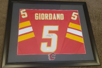 Mark Giordano Signed 30x35.5 Custom Framed Jersey Display with Patch (JSA Hologram) at PristineAuction.com