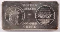 10 Troy Oz. .999 Fine Silver Bullion Bar at PristineAuction.com