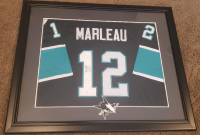 Patrick Marleau Signed 30x35.5 Custom Framed Jersey Display with Patch (JSA Hologram) at PristineAuction.com