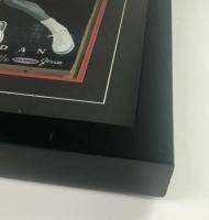 Michael Jordan Signed Bulls 16x16 Custom Framed LE Painted Game-Used Floor Piece (UDA COA) at PristineAuction.com
