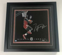 Michael Jordan Signed Bulls 16x16 Custom Framed LE Painted Game-Used Floor Piece (UDA COA) at PristineAuction.com