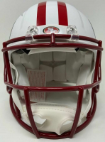 """Jerry Rice Signed 49ers LE Full-Size Authentic On-Field Matte White Speed Helmet Inscribed """"NFL Top 100"""" & """"HOF 2010"""" (Fanatics Hologram) at PristineAuction.com"""