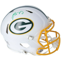 Aaron Rodgers Signed Packers Full-Size Authentic On-Field Matte White Speed Helmet (Fanatics Hologram) at PristineAuction.com