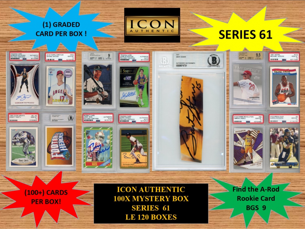 ICON AUTHENTIC  100X MYSTERY BOX SERIES 61 100+ Cards per Box at PristineAuction.com