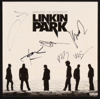 "Linkin Park ""Minutes To Midnight"" Vinyl Record Cover Signed By (6) with Mike Shinoda, Joe Hahn, Chester Bennington, Brad Delson, Dave Farrell, Rob Bourdon (JSA LOA) at PristineAuction.com"