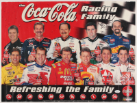 "NASCAR ""Coca Cola Racing Family"" 16x21 Poster Signed by (5) with Tony Stewart, Richard Petty, Dale Jarrett, Bobby Labonte & Steve Park (JSA COA) at PristineAuction.com"