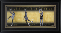 Magic Johnson, Michael Jordan & Larry Bird Signed LE 18x44 Custom Framed Photo Display (Upper Deck Hologram) at PristineAuction.com