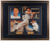 Joe DiMaggio Signed LE Yankees 40x49 Custom Framed Lithograph Display (JSA LOA) at PristineAuction.com