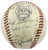 """1946 Pirates ONL Baseball Team-Signed by (26) with Honus Wagner, Ralph Kiner, Al Lopez, Elbie Fletcher Inscribed """"1946"""" (JSA LOA) at PristineAuction.com"""