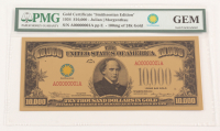 """1934 $10,000 Ten Thousand Dollars """"Smithsonian Edition"""" Gold Certificate (PMG Gem Uncirculated) at PristineAuction.com"""