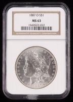 1887-O Morgan Silver Dollar (NGC MS63) at PristineAuction.com