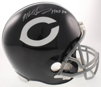 "Mike Singletary Signed Bears Full-Size Throwback Helmet Inscribed ""HOF 98"" (JSA COA) at PristineAuction.com"